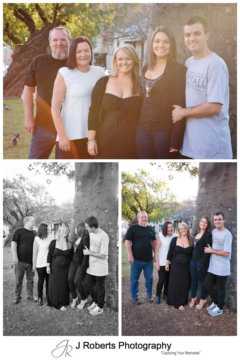 Extended Family Portrait Photography Sydney The Rocks for Grandmothers 80th Birthday Present